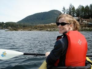Kayaking on the sea!