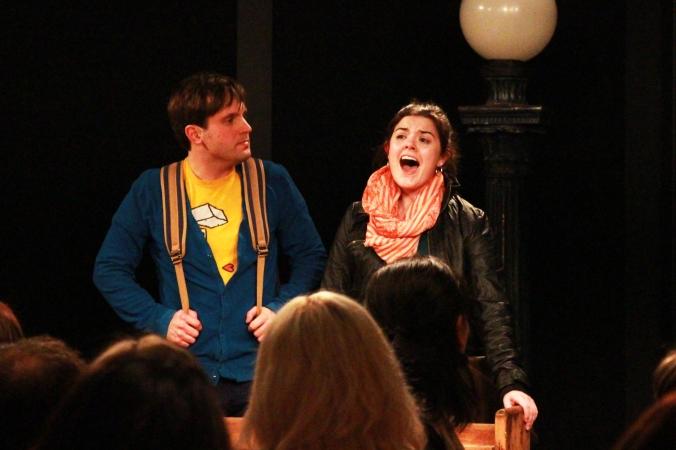 Warren (Stephen Greenfield) and Deb (Jennie Neumann). Photo: Jessie van Rijn