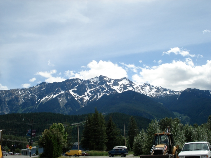 Just a big ol' mountain. Visible from a parking lot in Pemberton.